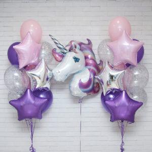 Набор из шаров С Днем Рождения Звезда